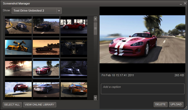 News Steam Screenshots Feature Now Available