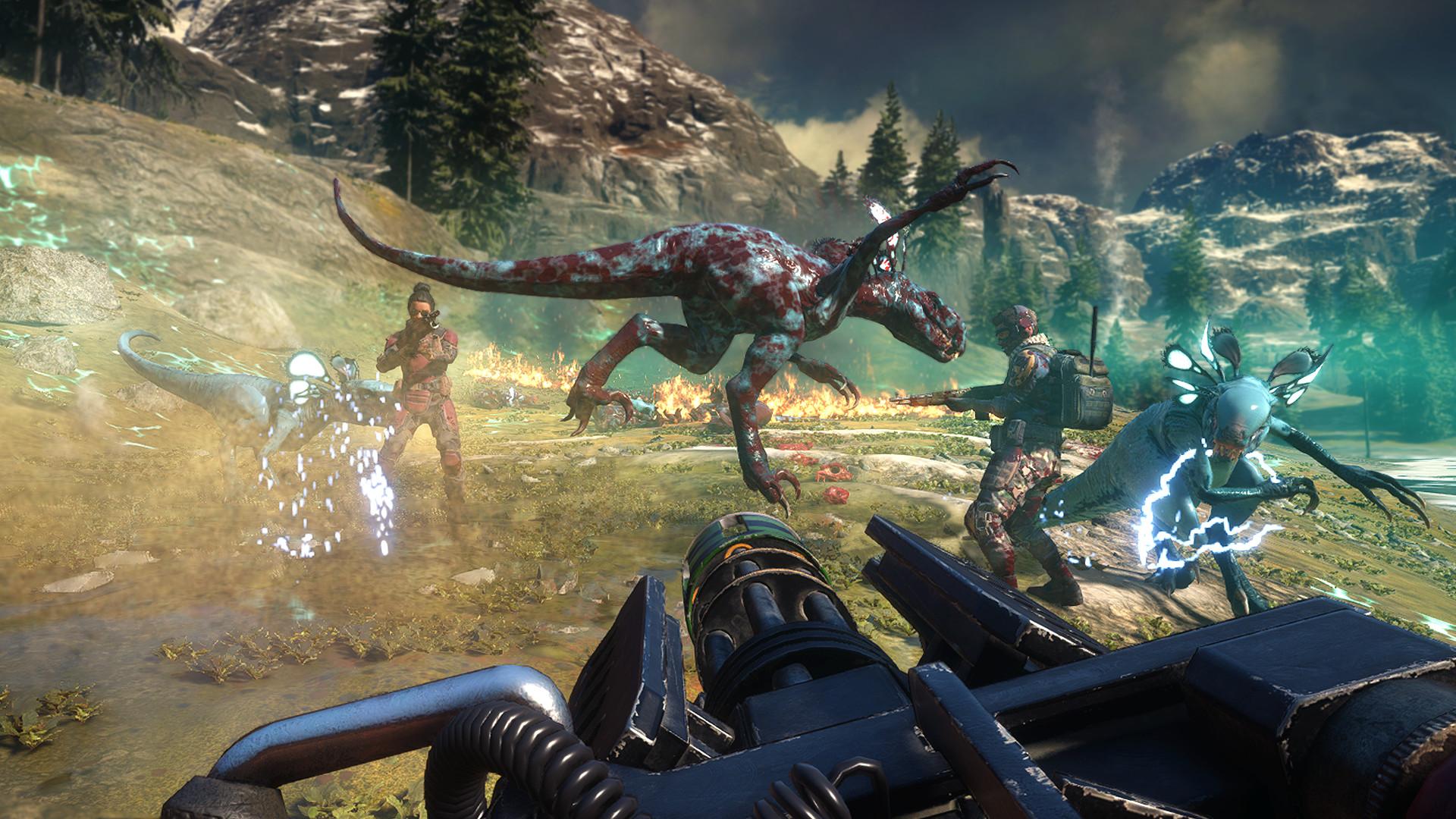 Second Extinction presenta el Styracosaurus en un nuevo tráiler con la voz de Duke Nukem 2