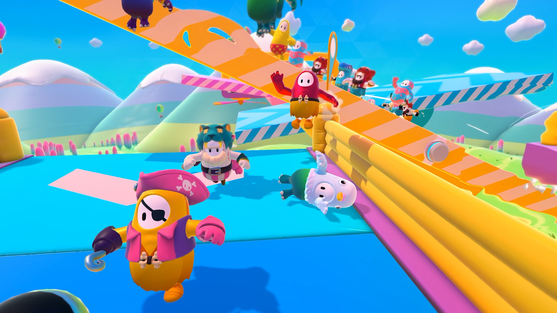 Fall Guys immediately stands out with its goofy visuals and different looking gameplay