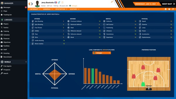 Pro Basketball Manager 2021 Free Steam Key 1