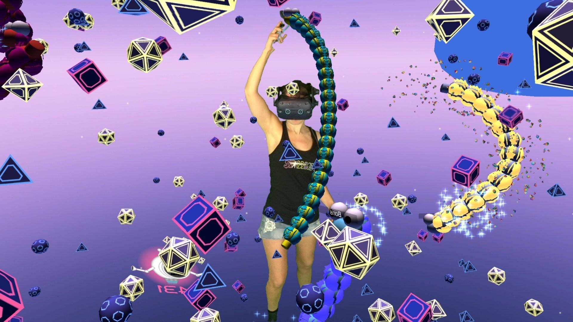 Oculus Quest 游戏《Space Slurpies》VR贪吃蛇插图(2)