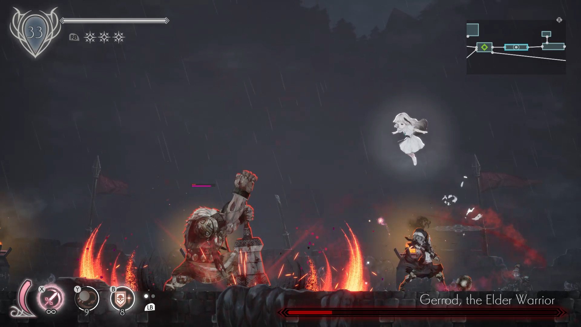 ENDER LILIES: Quietus of the Knights Boss fight