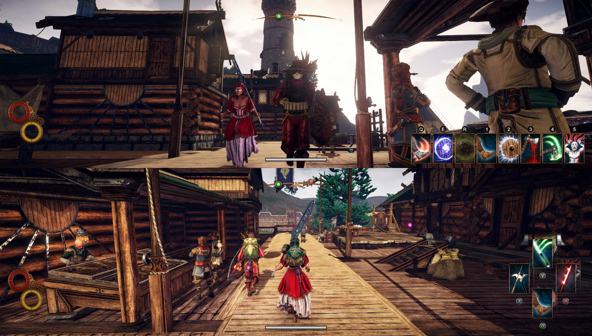 Steam games to play with your partner: Outward screenshot on PC