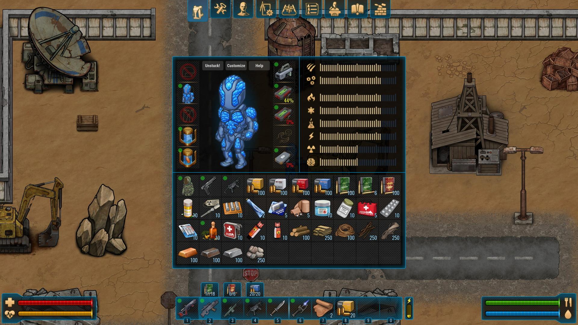 CryoFall Review: Crafting Menu