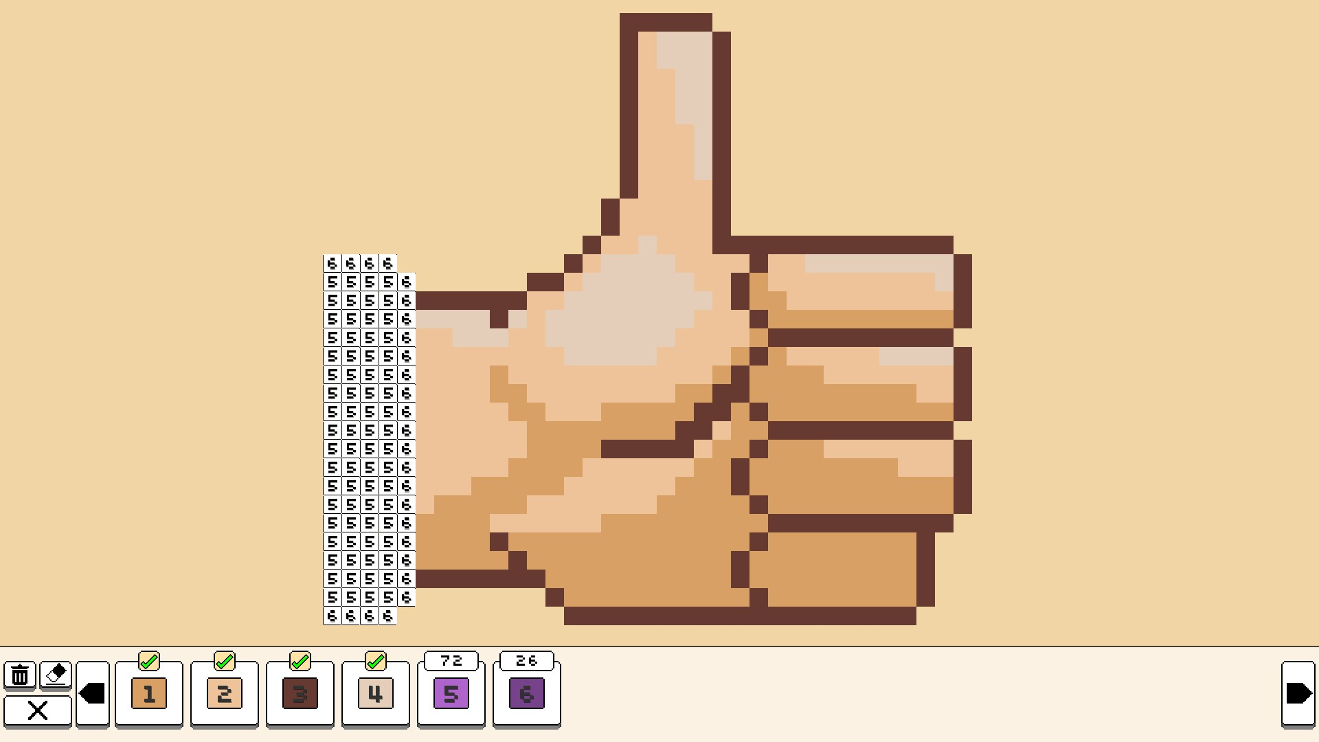 Coloring pixels - spring pack diagram