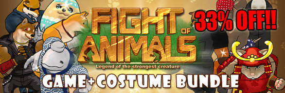 Fight of Animals Game + 10 Costumes Bundle