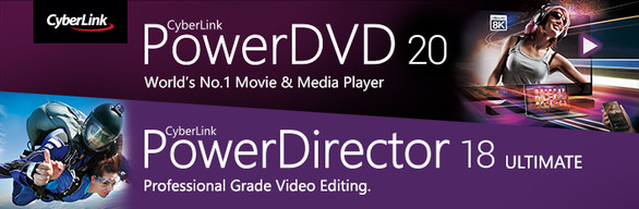CyberLink PowerDVD 20 Ultra + PowerDirector 18 Ultimate