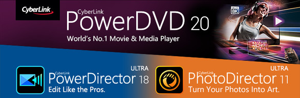 CyberLink PowerDVD 20 Ultra + PowerDirector 18 Ultra + PhotoDirector 11 Ultra