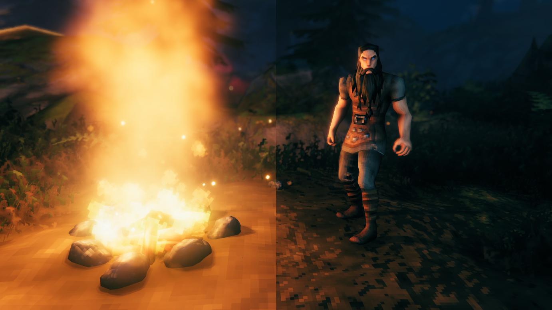 Image result for valheim campfire