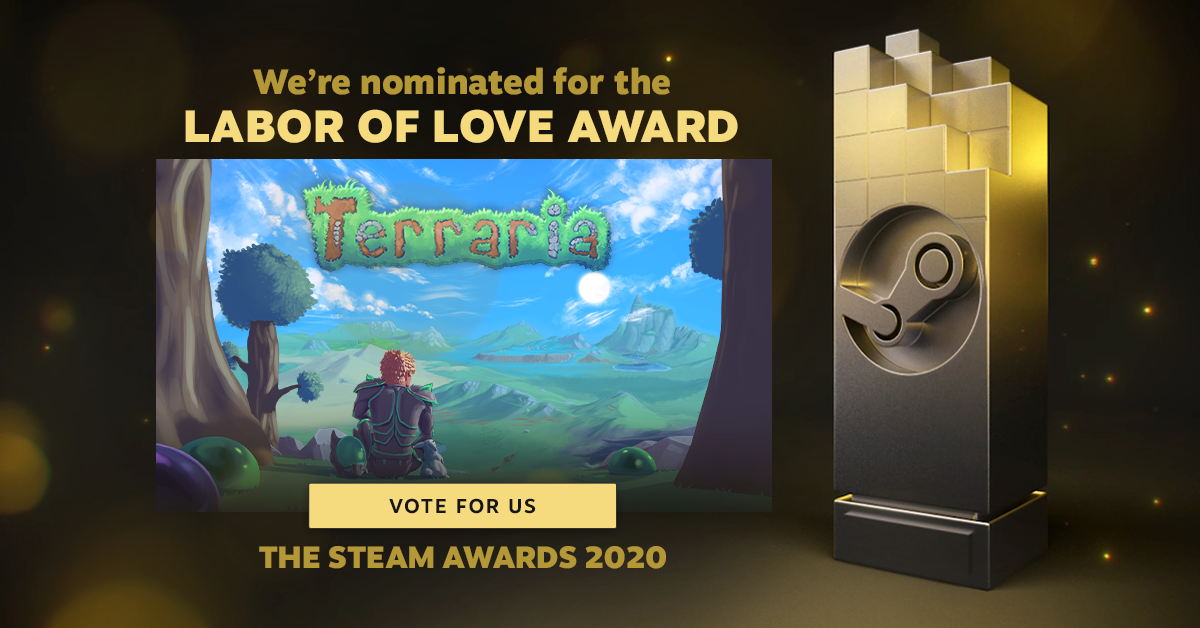 Terraria: No Greater Labor of Love Nominee - Get Your Votes in Today!