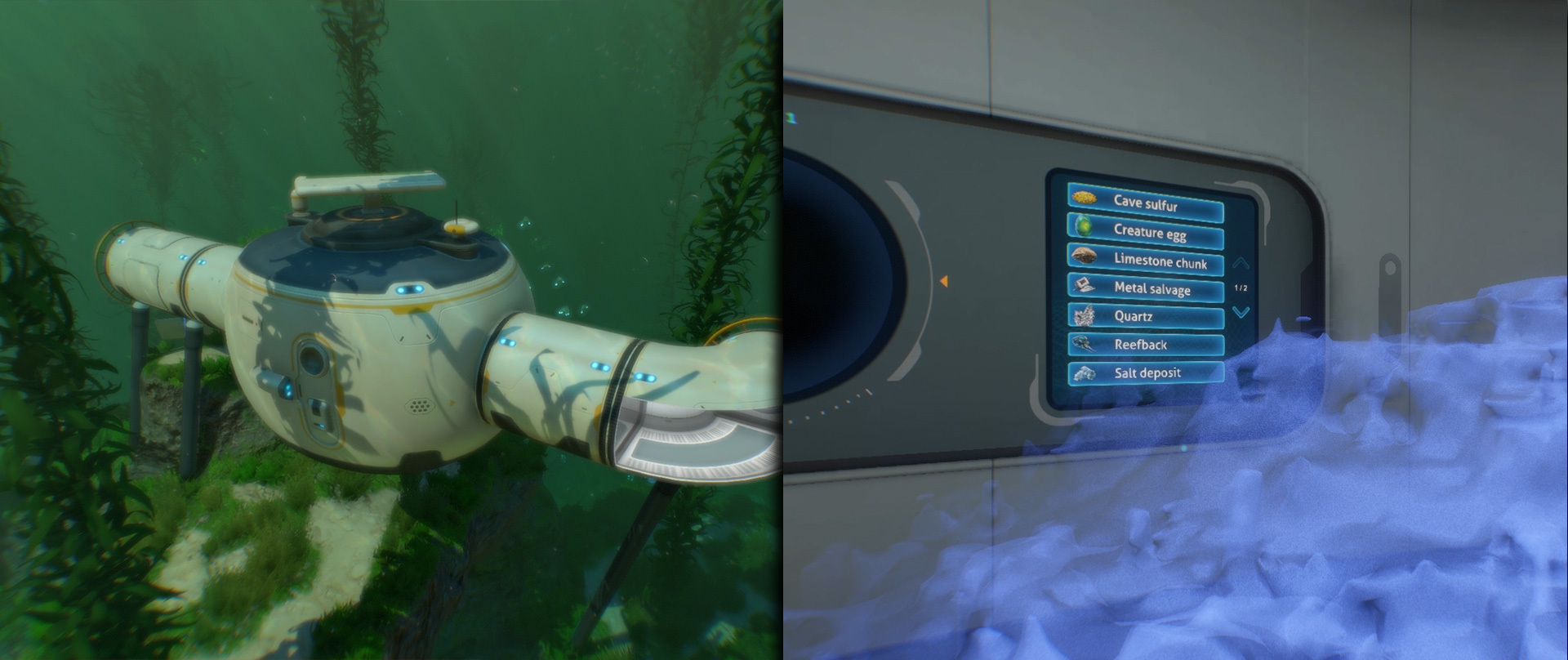 Subnautica Scanner Room Lithium – A quick vid showing off the new drone cameras from the scanner room in action to find resources.