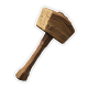Wooden Hammer Badge